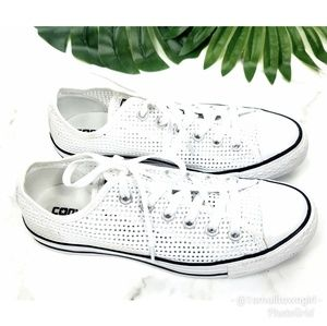 Converse Chuck Taylor perforated oxford white 8